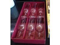 Boxed set of 6 Vintage Champagne Glasses