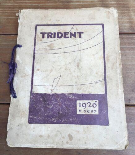 "1920 SANTA CRUZ HIGH SCHOOL YEARBOOK SANTA CRUZ CA CALIFORNIA ""THE TRIDENT"""
