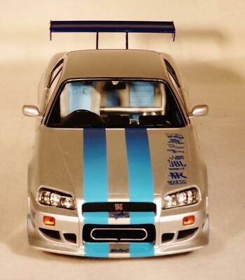 "1999 NISSAN SKYLINE GT-R  ""FAST & FURIOUS"" MOVIE 1:18 BY"