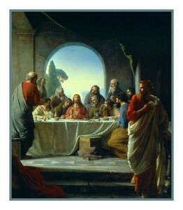 The-Last-Supper-of-Christ-by-Danish-Artist-Bloch-Counted-Cross-Stitch-Chart