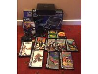 Sega Saturn Console with 2 controllers and 10 games boxed