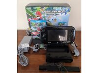 boxed fantastic condition wii black u with game
