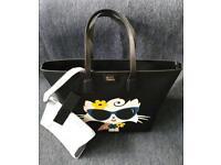 Karl Lagerfeld shopper tote bag Choupette at rhe beach shopper