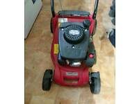 petrol lawnmower by Mountfield