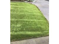 Used artificial grass