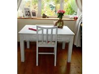 shabby chic solid wood desk and chair covered in Emily Bond