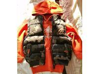 Hoodie and sleeveless bomber jacket 4/5y