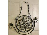 Vintage black cast iron ceiling light