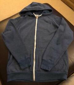 Men's blue zip up hoody size small