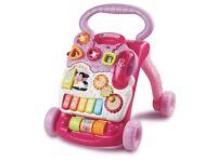 V Tech First Steps Baby Walker Pink