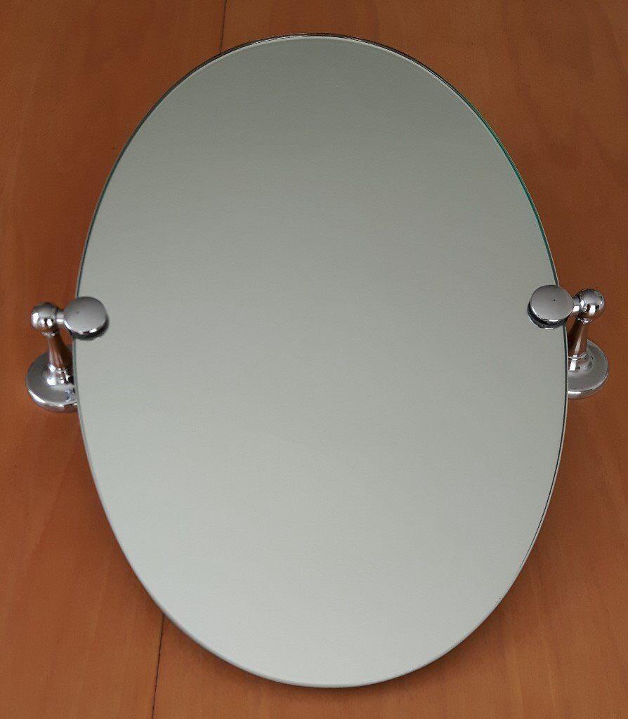 Oval Wall Mounted Tilting Bathroom Mirror In Princes Risborough