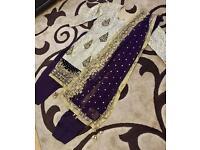 Wine And Gold Shalwar Kameez Shaadi Wedding Bridal Suit