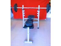York Fitness Bench & Weights