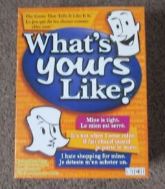 GAME WHAT'S YOURS LIKE? GREAT FUN AND VERY FUNNY, PERFECT FOR CHRISTMAS