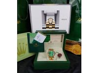 Brand New Gold Rolex Daydate. Green face, Comes Rolex bagged, Boxed with paperwork