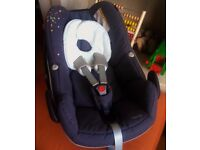 Maxi Cosi Pebble Car Seat fits Quinny Bugaboo Icandy Silvercross Oyster Confetti 2012 Model