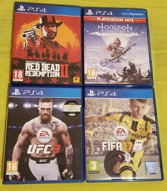 PS4 Games Bundle – Red Dead Redemption 2, Horizon Zero Dawn Complete Edition, UFC 3 & FIFA 17