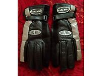 Karl Wolf Ladies leather biker gloves, excellent condition, size Small £25.00