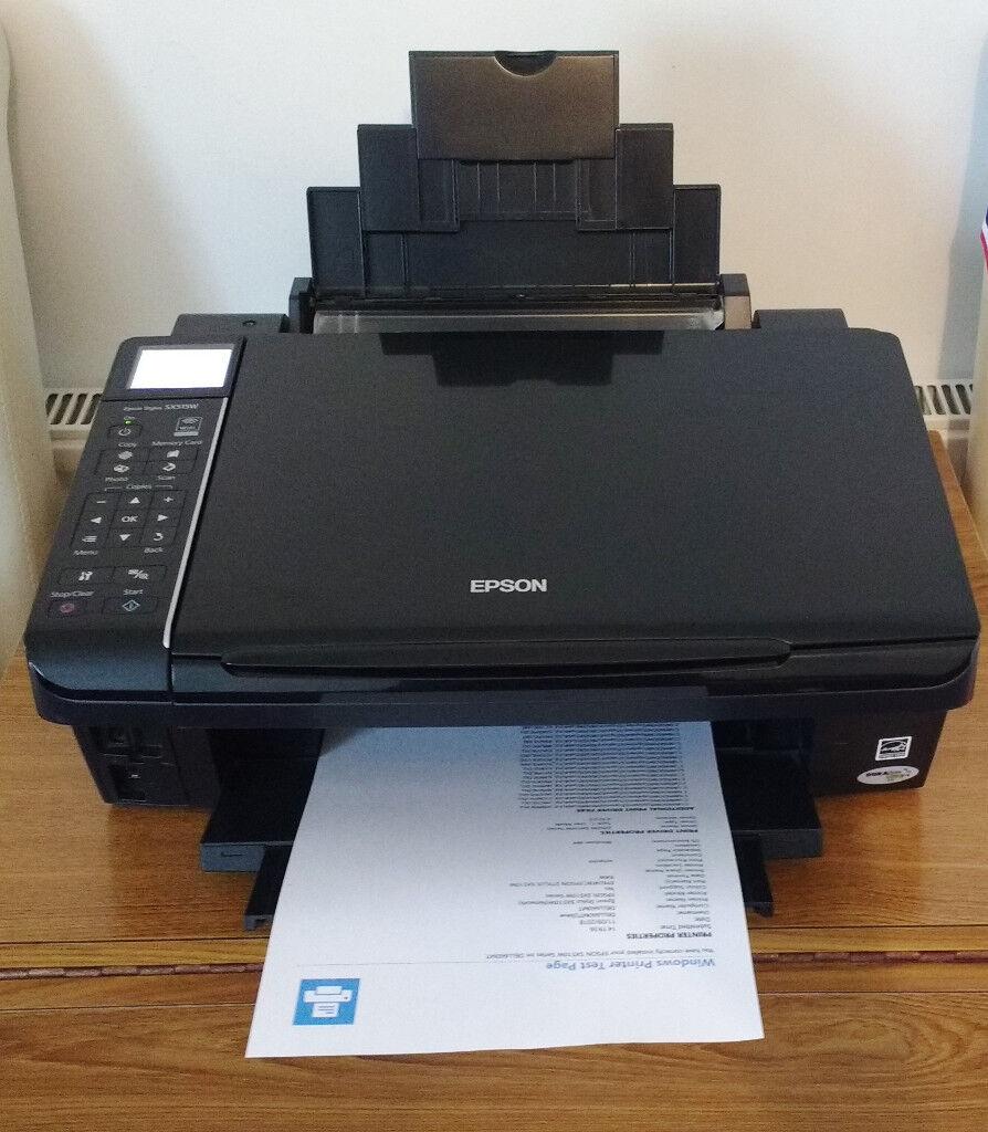 Epson SX515W wireless printer, copier, scanner complete with new inks  installed