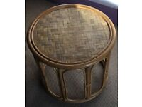 Solid Wicker Side Table in very good condition - collection Whitton borders