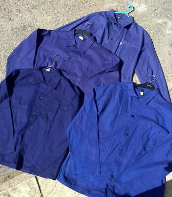 CHORE French Herringbone Cotton Twilll Worker Work Jacket - Blue XS S M L XL