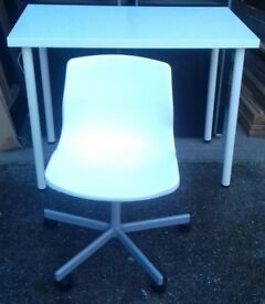 White Desk and Chair