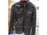 Men's Superdry Leather Jacket. Size Medium. Excellent Condition.