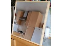 ikea stave mirror. wall hung brackets on rear. 70 x 70cm. Clean excellent condition.