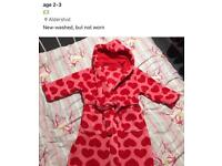 Age 2-3 dressing gown