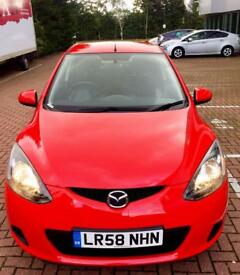 Mazda2 Hatchback (2008) MK2 1.3 TS2 5dr MANUAL, RED