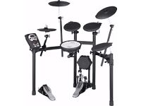Roland TD-11k Electric Drum Kit with Drum Stool, Sticks and Double-Bass Pedal