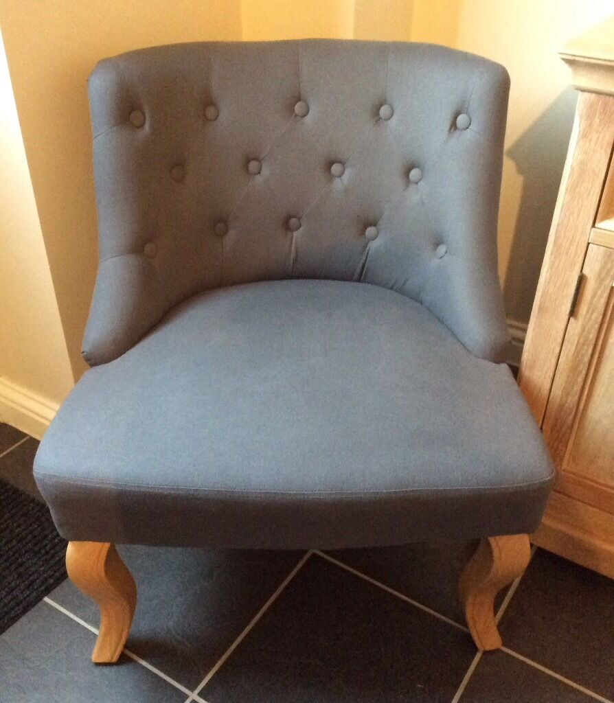Genial Dunelm Charcoal Grey Antoinette Vintage Style Occasional/dressing Room Chair/armchair    Like