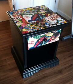 Marvel upcycled large pine cabinet