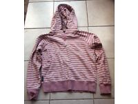 Joules Pink Striped Womens Hoody UK 12