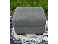 Ex-display Long Beach Grey Fabric Stoage Footstool.
