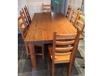 Ikea Forsby 180cm Table & 8 Chairs FREE DELIVERY 0078