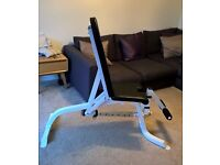 Weight lifting/training bench - adjustable backrest with leg supports - perfect condition