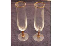 2 Decorative Champagne Glasses