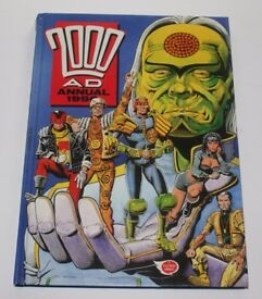 2000AD Annual 1990. Hardback. Comic. Good Condition. Top of spine bent.