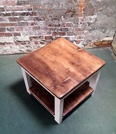 Unique Handmade Reclaimed Scaffold Boards and Pallet Wood Coffee Table