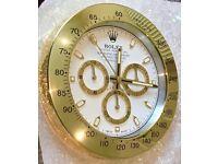 Rolex wall clock, Tel 07884-015528, Best Quality Metal Clocks