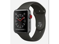 APPLE WATCH SERIES 3 GPS + CELLULAR 42MM SPACE GRAY ALLUMINIUM WITH BLACK SPORTS BAND
