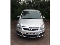 Vauxhall Zafira. Superb condition. Long mot