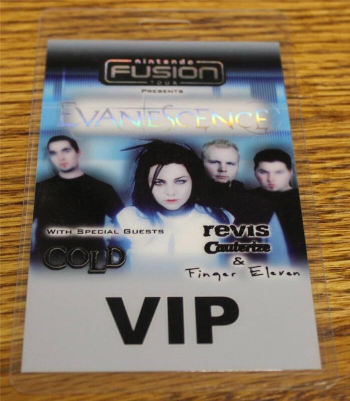 Vintage & Genuine Evanescence Nintendo Fusion Tour Laminated Backstage Pass FOIL