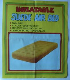 Air Bed Inflatable Suede Mattress for Extra Bed or Camping