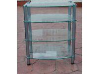 Glass 4 shelf TV Stand