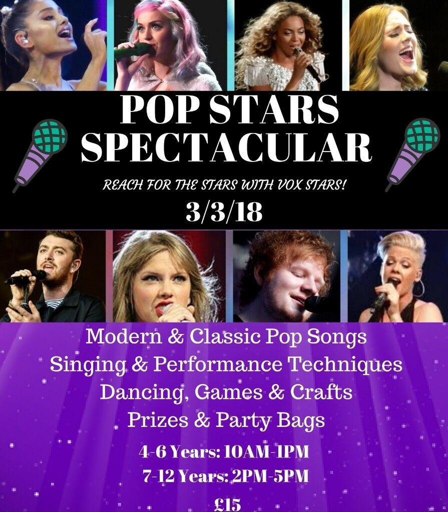 Pop Stars Spectacular- Kids Workshop