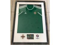 Framed Signed Northern Ireland Shirt