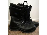 About Blu safety steel toe cap work boots zips and laces NEW size 38 UK 5