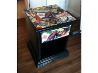 Marvel comic superhero upcycled pine cabinet